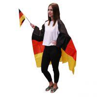 Fan Kostüm Deutschland, schwarz-rot-gold