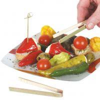 Bambus Fingerfood Zange, natur Inhalt: 20 Stück