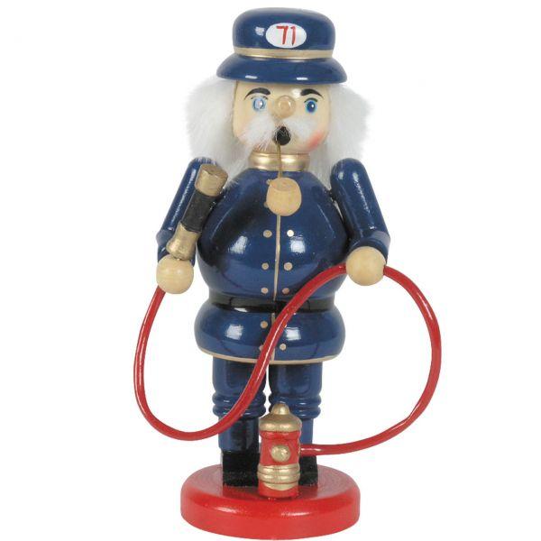 Räuchermännchen Feuerwehrmann, blau