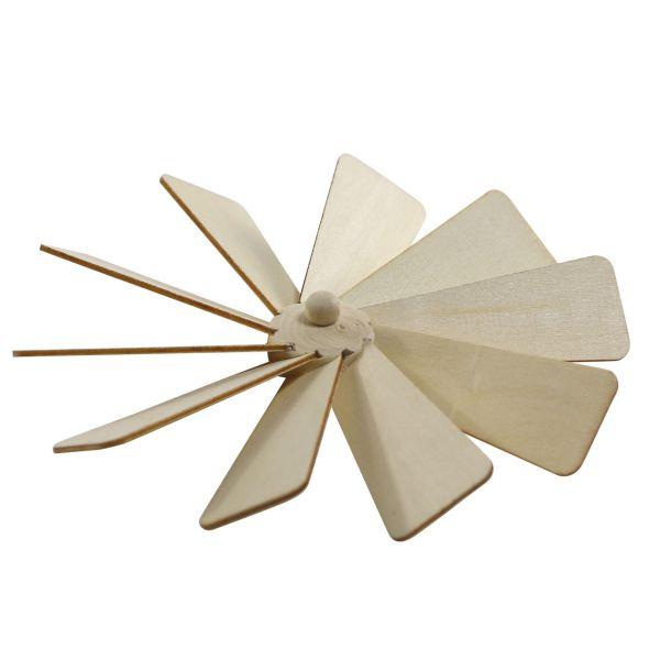 Weihnachts-Pyramiden-Rotor mit Flügeln, natur