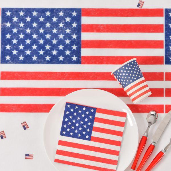 Tischläufer USA, Stars ´n Stripes, blau-weiß-rot