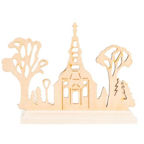 Teelichthalter Kirche