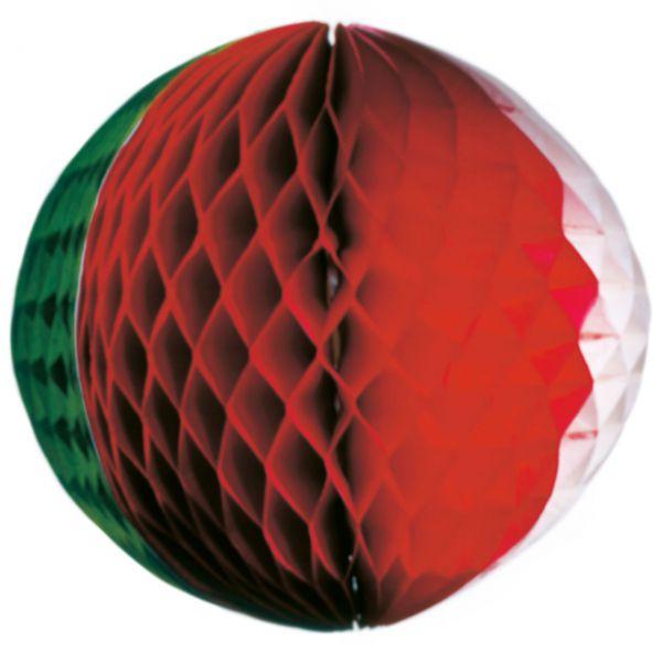 Wabenball, Ø 32 cm, grün-weiß-rot