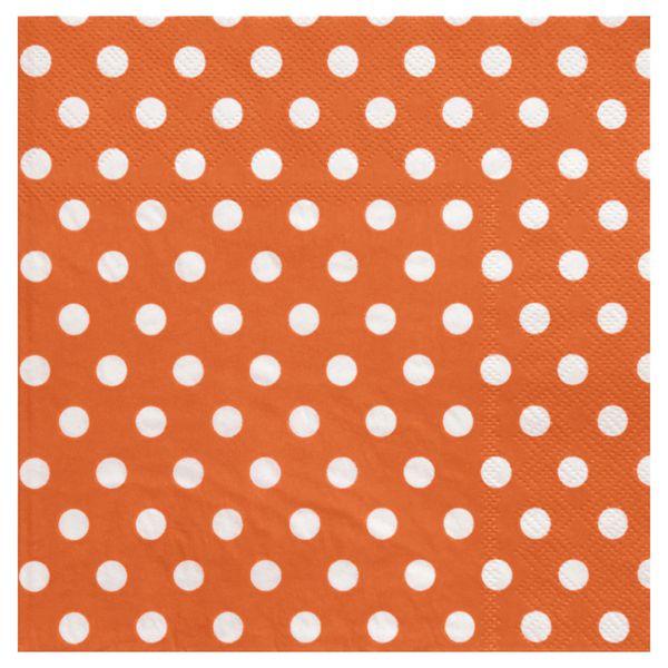 Servietten weiße Punkte, orange