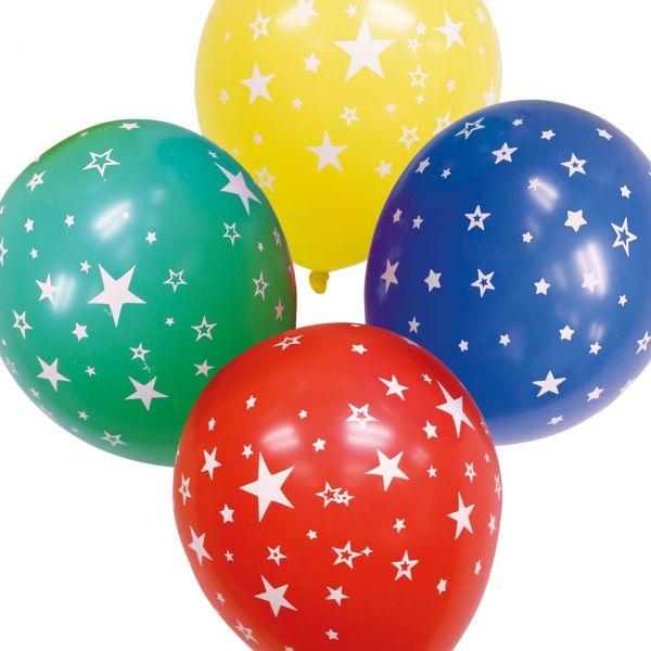 Luftballons Sterne kristall, bunte Mischung