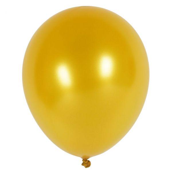 Luftballons metallic, gold