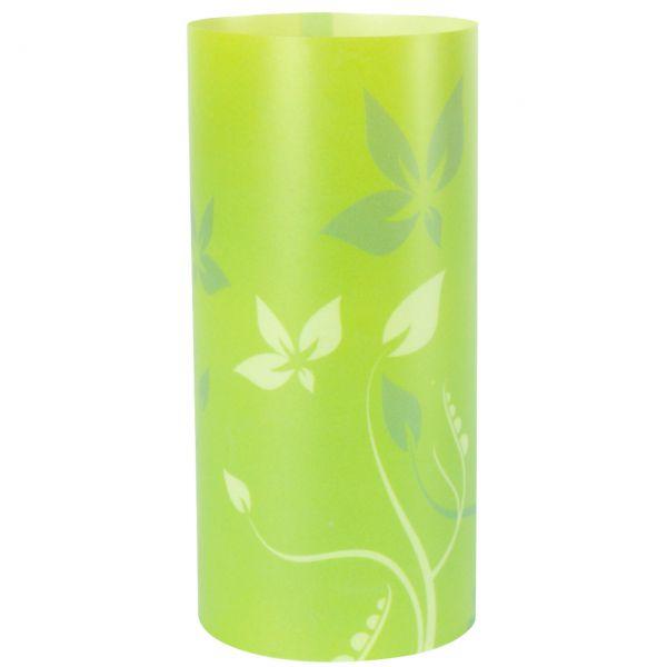 Windlicht Floral, grün