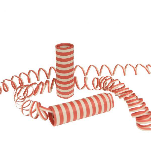 Luftschlangen, rot-weiß
