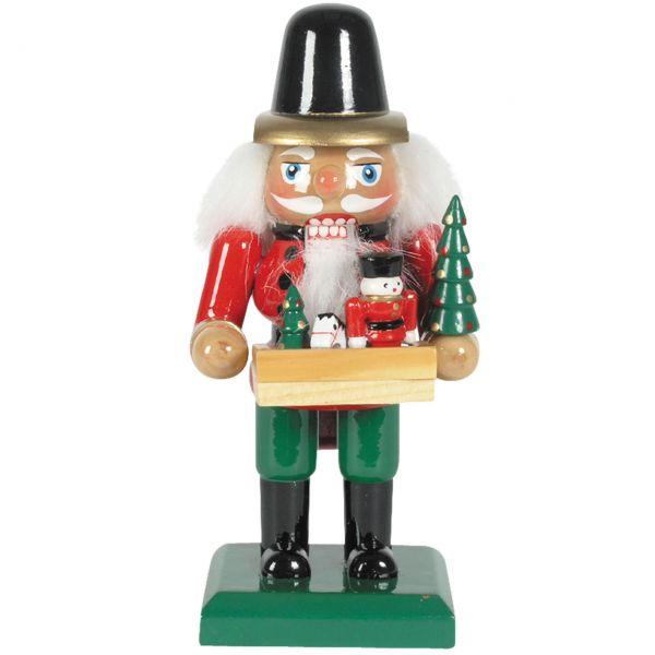 Nussknacker Spielwaren-Händler 15cm, rot/grün