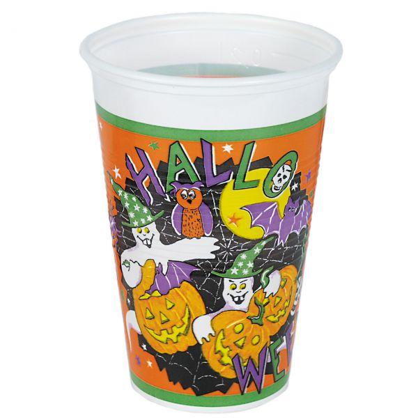 Kunststoff Trinkbecher Halloween, bunt