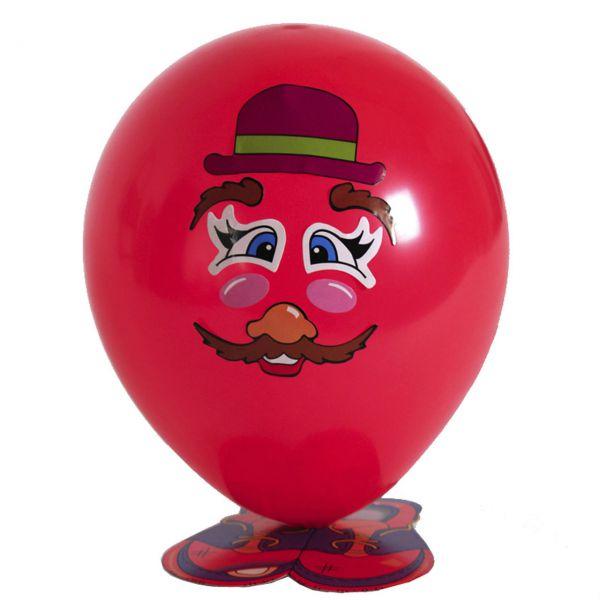Luftballons mit Gesicht und Füssen, bunt