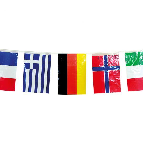 Flaggenkette wetterfest, Nationen