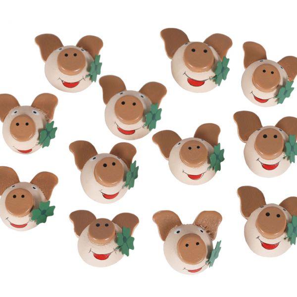 Glücksbringer Glücksschwein mit Kleeblatt