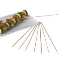 Bambus-Spieße einseitig spitz, natur Inhalt:100 Stück, 25 cm