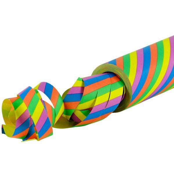 Maxi Luftschlange, 15m diagonal gestreift