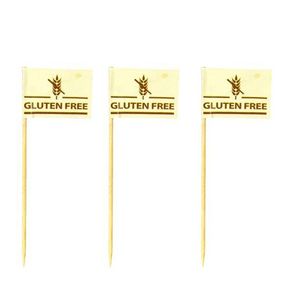 "Party-Picker Flagge, ""Gluten Free"", creme"