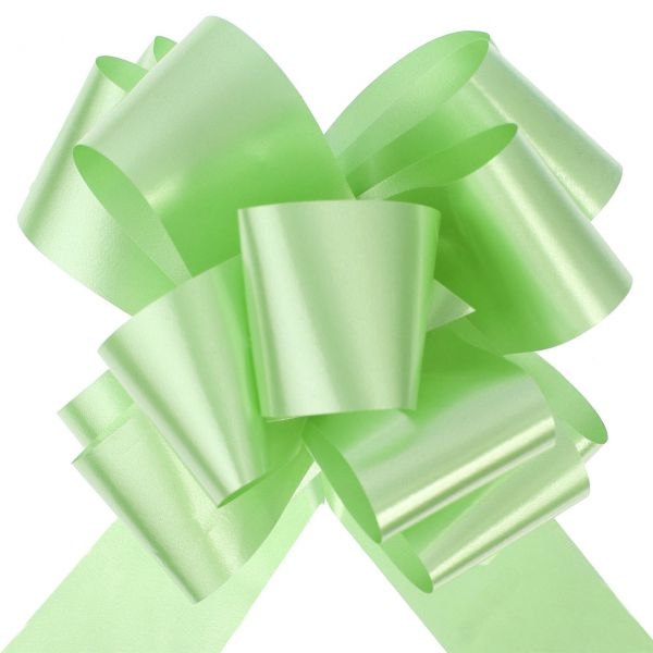 Automatik Ziehschleife XL, glänzend, grün