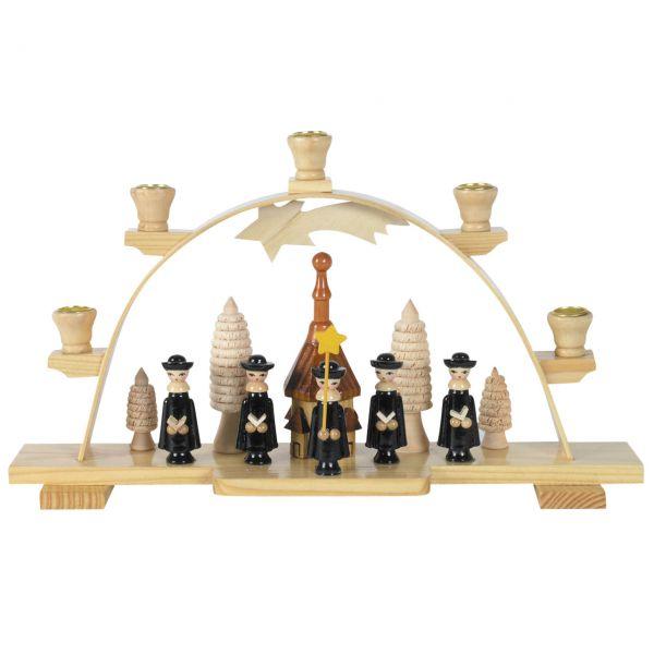 Schwibbogen Kirche und Kurrendesänger, Kerzen