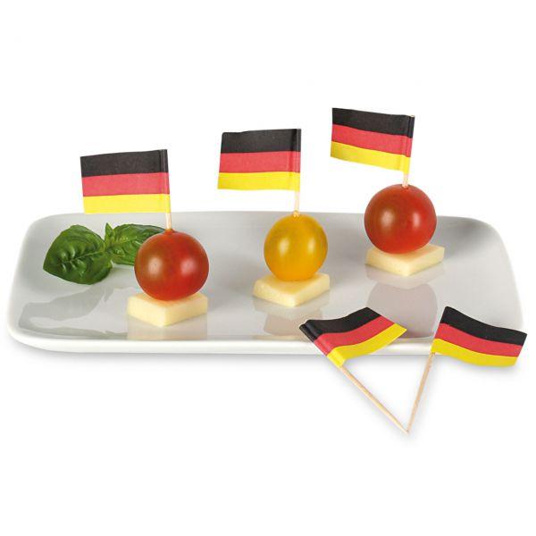 Party-Picker Flagge Deutschland, schwarz-rot-gold