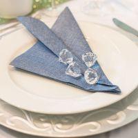 Einweg Serviette Baumwolle, Classic dunkelblau