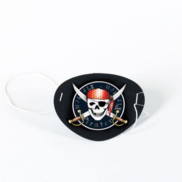 Augenklappe Piraten, schwarz-weiß
