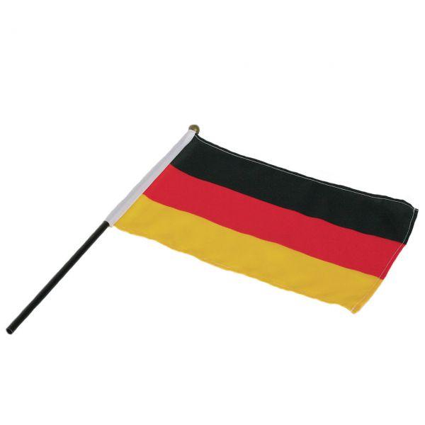 Handfahnen Deutschland, Polyester, schwarz-rot-gold