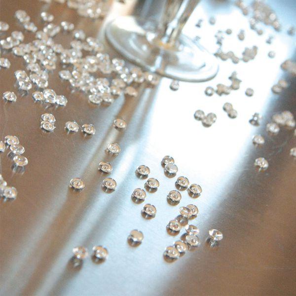 Streudeko Perlen halbrund, transparent