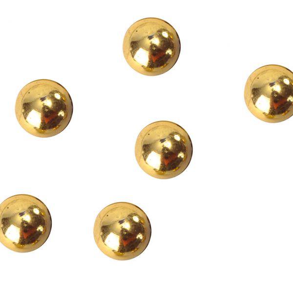 Streudeko Perlen halbrund, gold