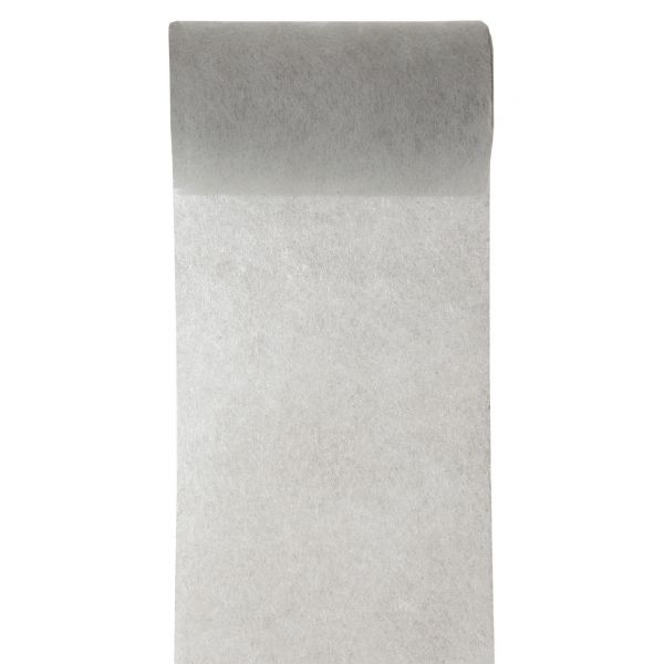 Tisch- und Schleifenband, B: 10cm, grau
