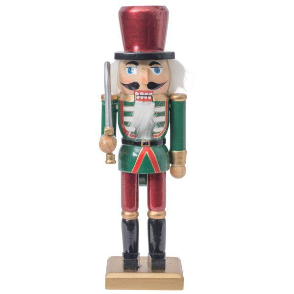 Nussknacker Soldat 25cm, rot-grün