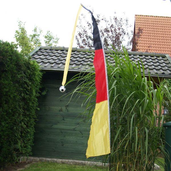 Balifahne Deutschland, wetterfest, schwarz-rot-gold