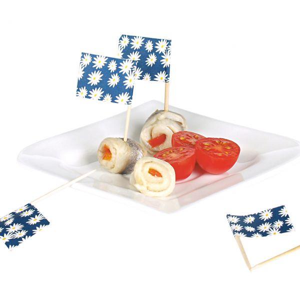 Party-Picker Fähnchen Margerite, blau-weiß