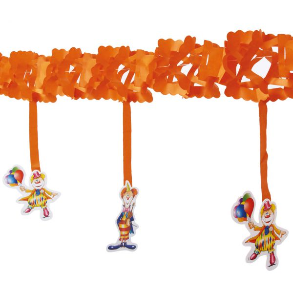 Girlande mit Clowns, orange