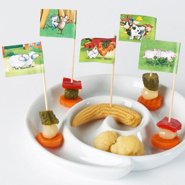 Party-Picker Fähnchen Bauernhof, bunt