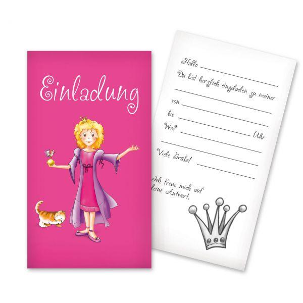Einladungskarten Prinzessin, pink