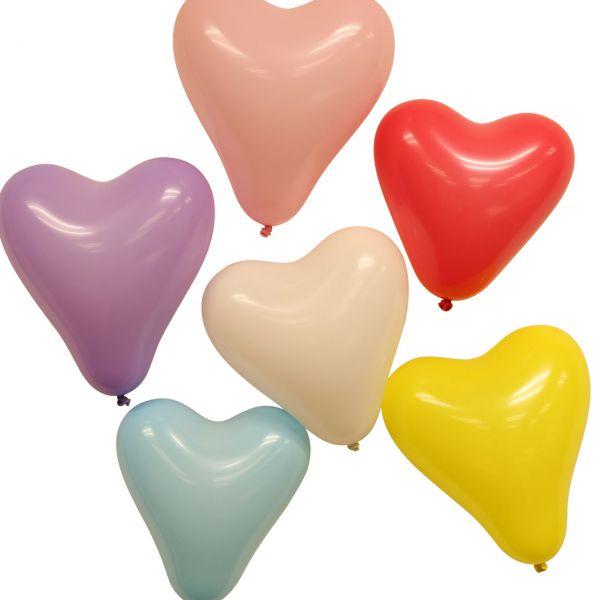 Luftballons Herzen, bunte Mischung