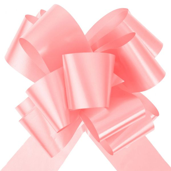 Automatik Ziehschleife XL, glänzend, rosa