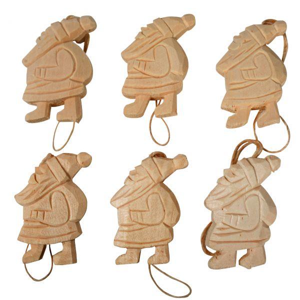 Anhänger, Holz massiv, Nikolaus