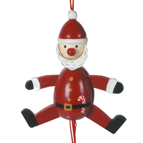Hampelmann Santa Claus Holz