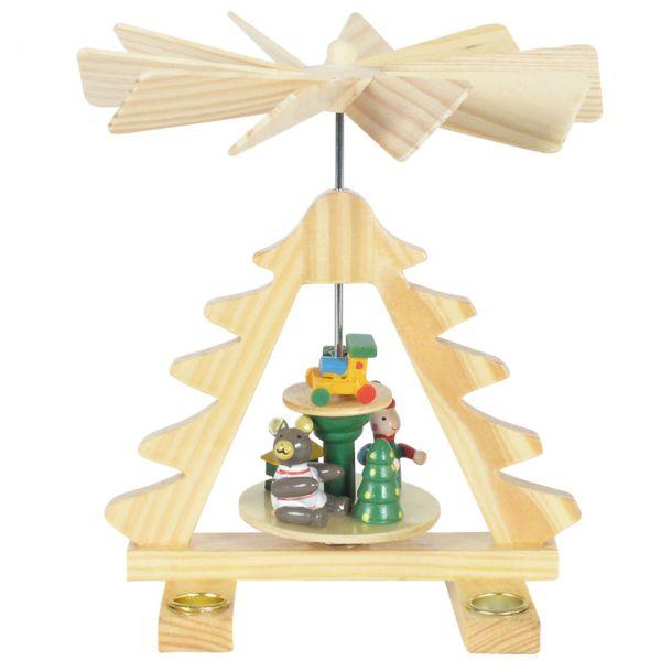 Kleine Weihnachts-Pyramide Tannenbaum, natur