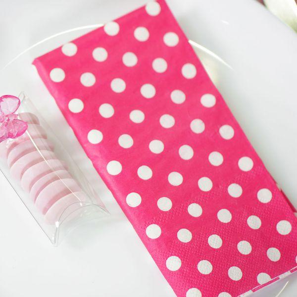 Servietten weiße Punkte, pink