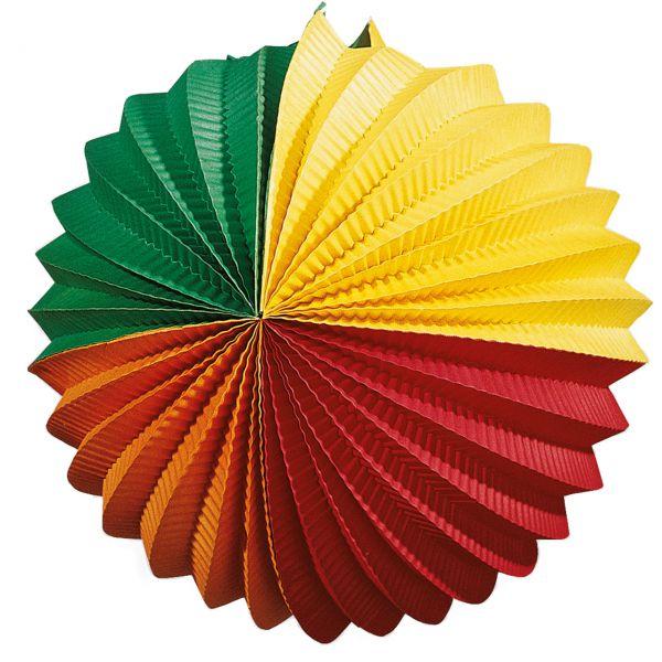 Lampion, grün-gelb-rot-orange