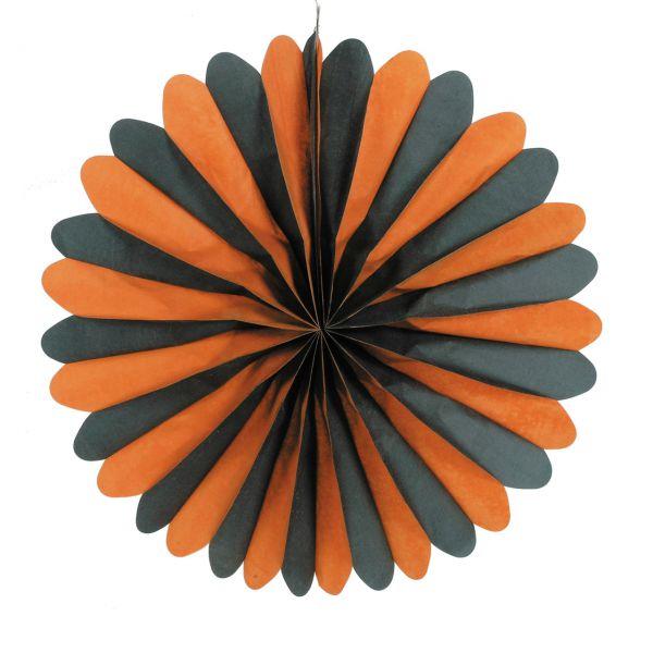 Deko-Fächer, schwer entflammbar, orange-schwarz