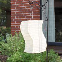 Solar LED-Laterne, wetterfest, geschwungen, sandhell
