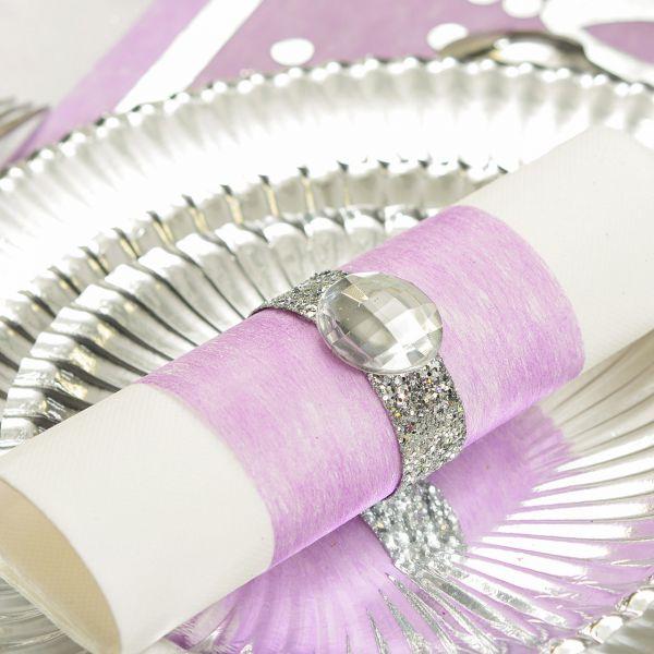 Tisch- und Schleifenband, B: 10cm, violet