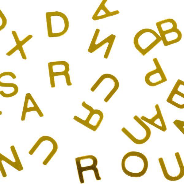 Streudeko Buchstaben, gold