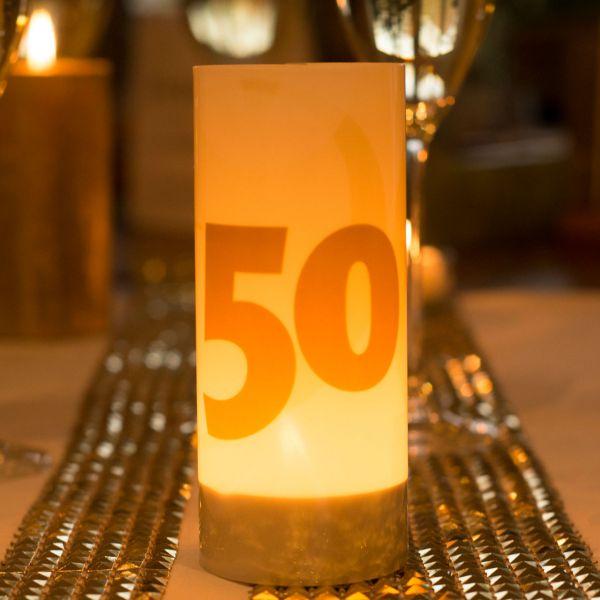 Windlicht 50, sandhell-gold