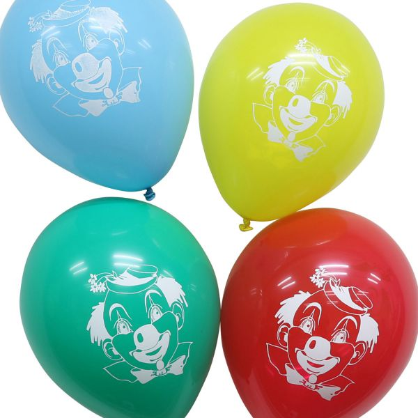 Luftballons Clown pastell, bunte Mischung