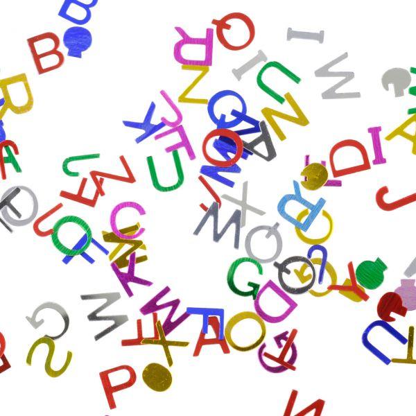 Streudeko Buchstaben, bunt