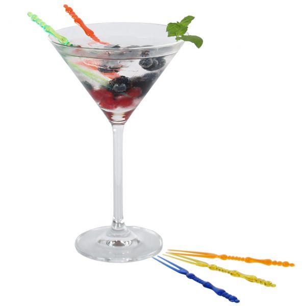 Cocktail Gabeln, bunt gemischt